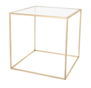 Riverdale Amaro gold side table 60 cm