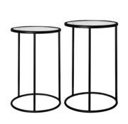 Riverdale Amaro side table round black set