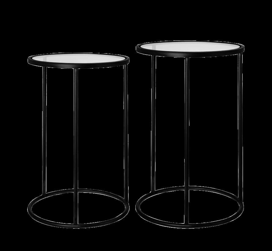 Amaro table d'appoint ronde ensemble noir