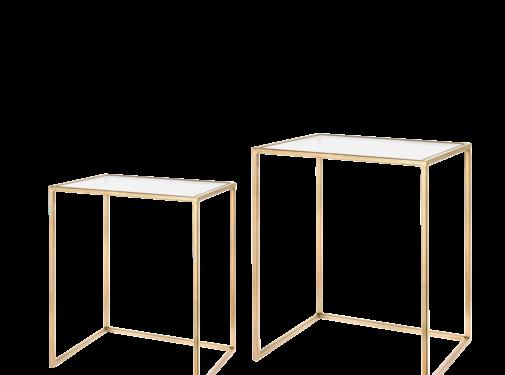 Riverdale Amaro Gold Beistelltisch Set