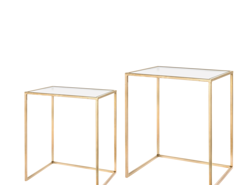 Riverdale Amaro gold side table set