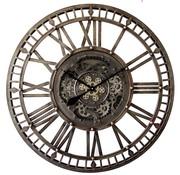 Mansion atmosphere Grande Horloge Murale Ouverte 90cm Bronze Ancien