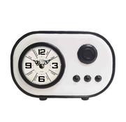 Mansion atmosphere Horloge grand-père vintage blanche et noire 25 cm
