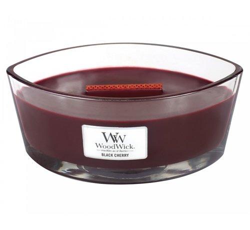 Woodwick Black Cherry ellipse candle