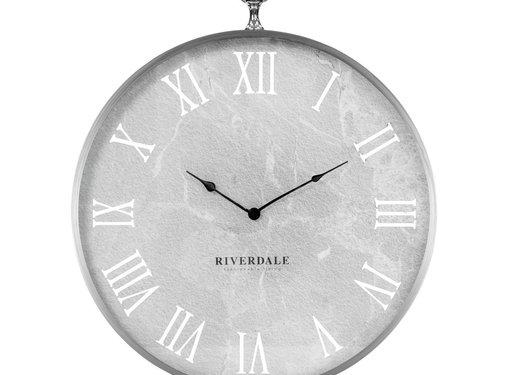 Riverdale Luton Silber Wanduhr 60 cm