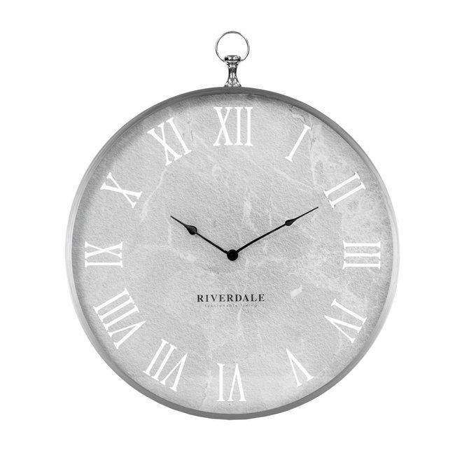 Luton silver wall clock 60 cm