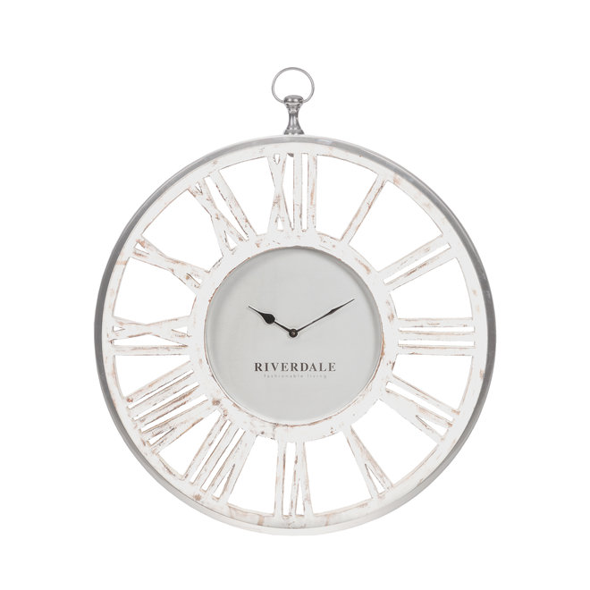 Horloge murale blanche Chuck 50 cm