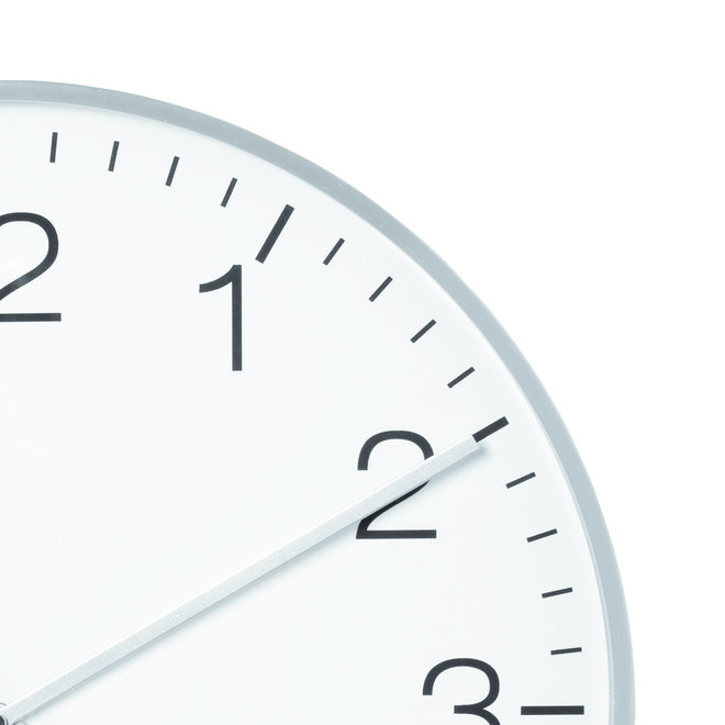 Horloge murale Camden argent 53 cm