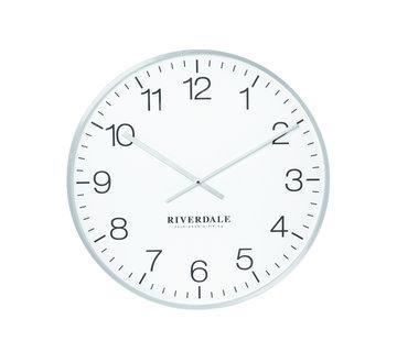 Riverdale Wanduhr Camden Silber 53 cm