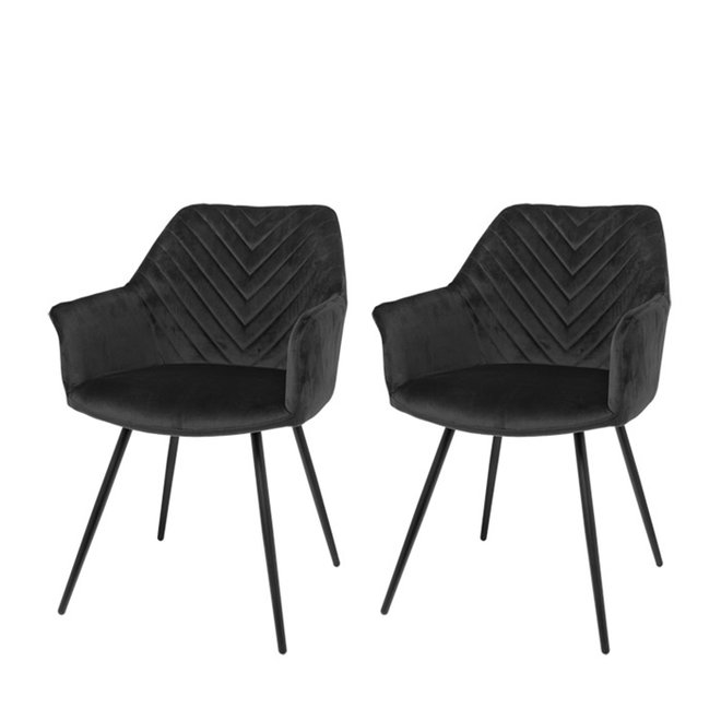 Dining room chair Lindy black - set of 2