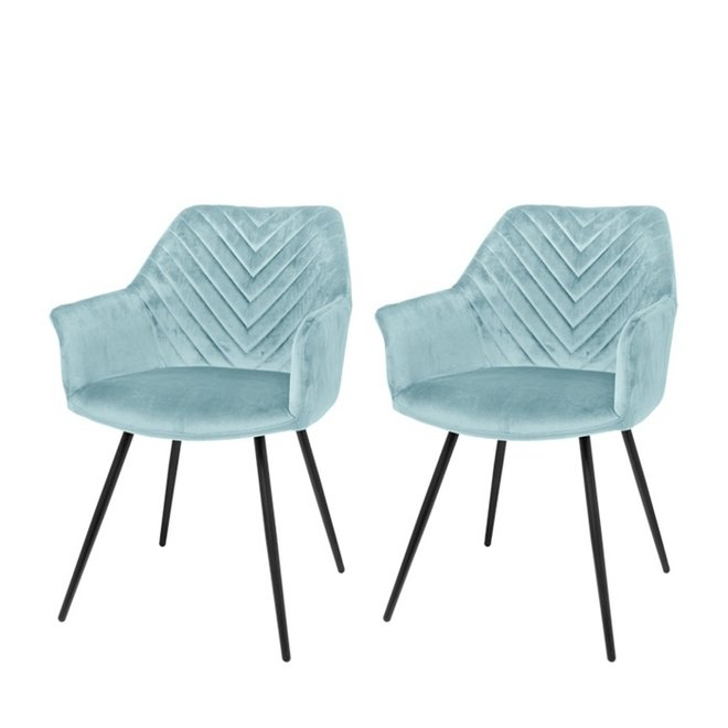 Dining room chair Lindy mint - set of 2