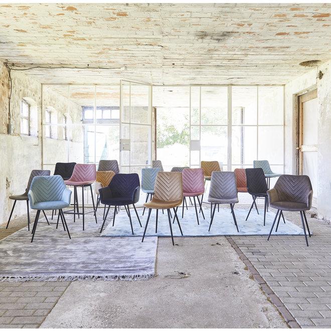 Chaise de salle à manger Lindy gris - set de 2