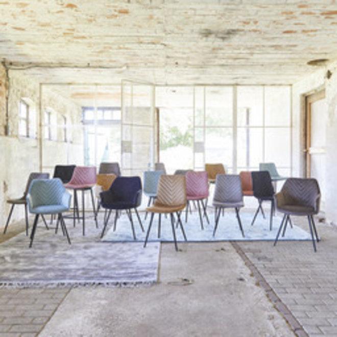 Chaise de salle à manger Lindy rose - lot de 2