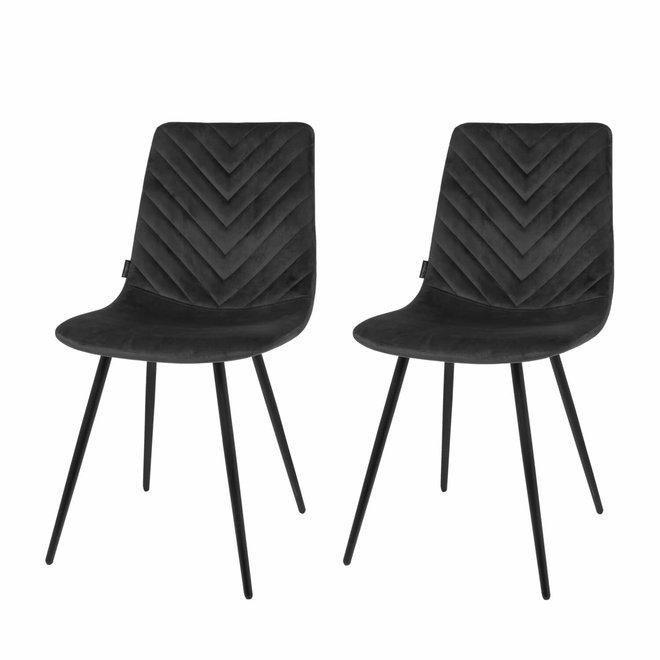 Chaise de salle à manger Lynn noir - set de 2