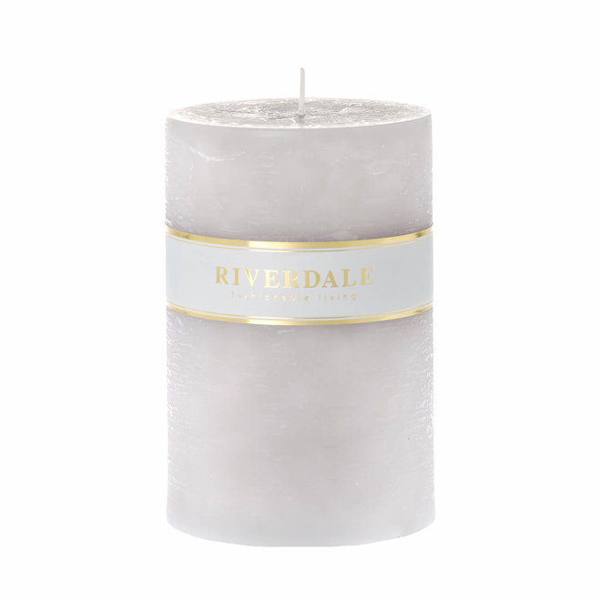 Pillar candle gray 10x15cm