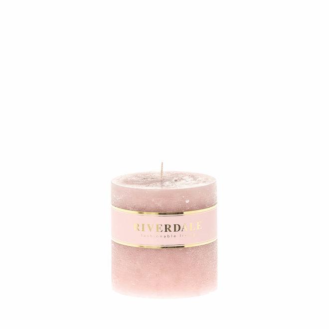 Säule rosa Kerze 9x9cm