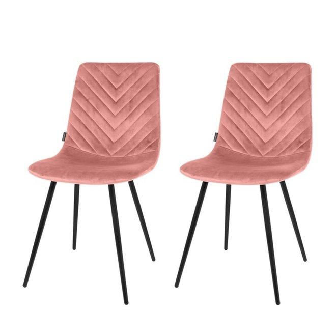 Esszimmerstuhl Lynn pink - 2er Set