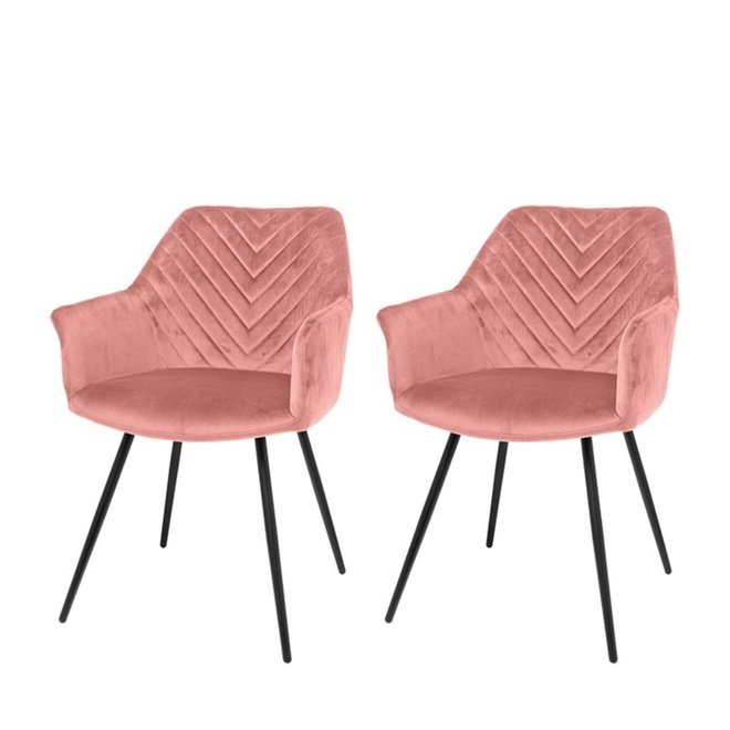 Esszimmerstuhl Lindy pink - 2er Set