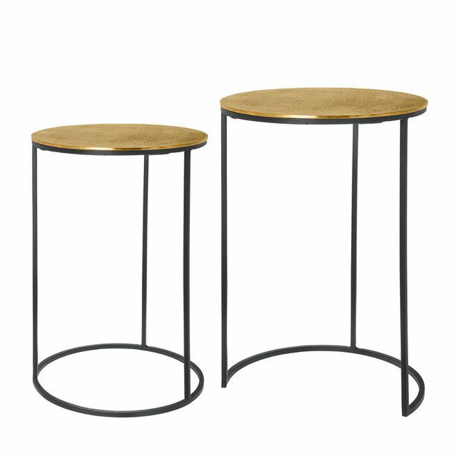 Side table set Mia copper 60 cm