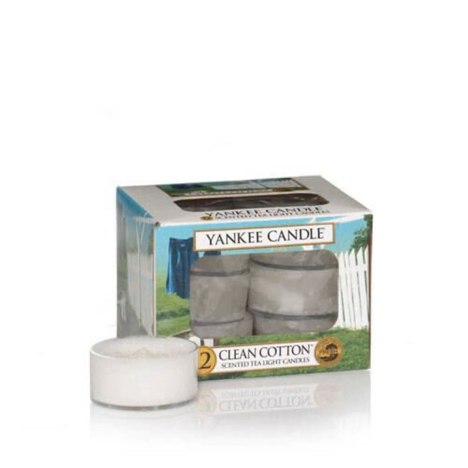 Bougies chauffe-plat Clean Cotton 12 pièces