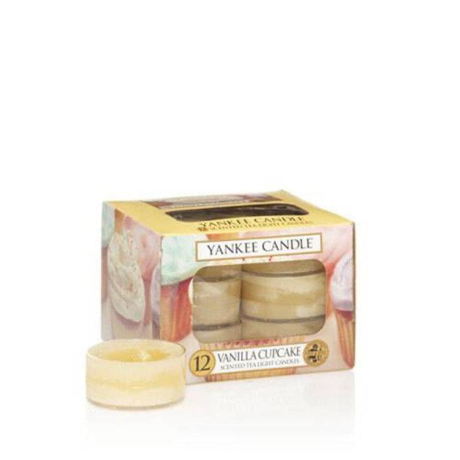 Bougies chauffe-plat Cupcake vanille 12 pièces