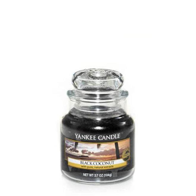 Schwarze Kokosnuss kleines Glas
