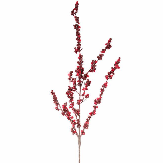 Berry branch bordeaux 132cm