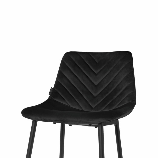 Chaise de bar Lynn noir - set de 2