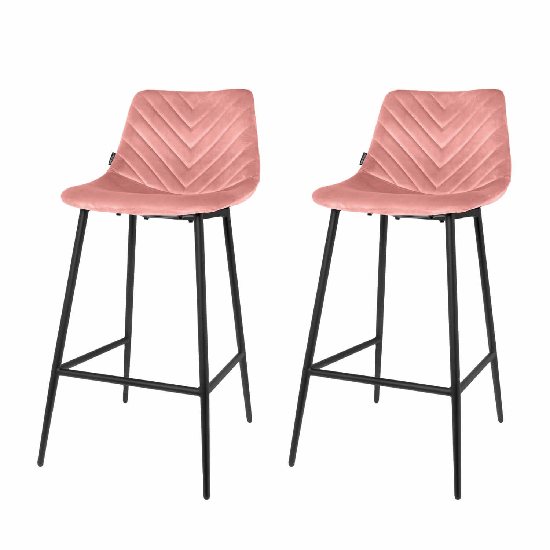 Barstoel Lynn roze - set van 2