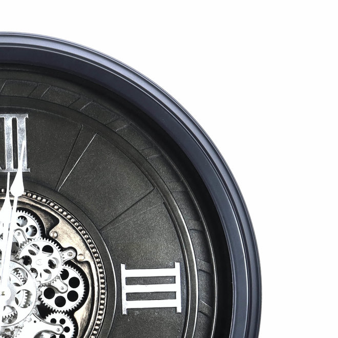 Horloge murale Gears gris 80