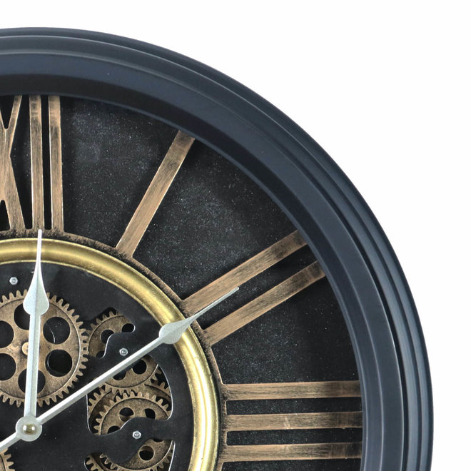 Horloge murale Classic industriel noir 54cm