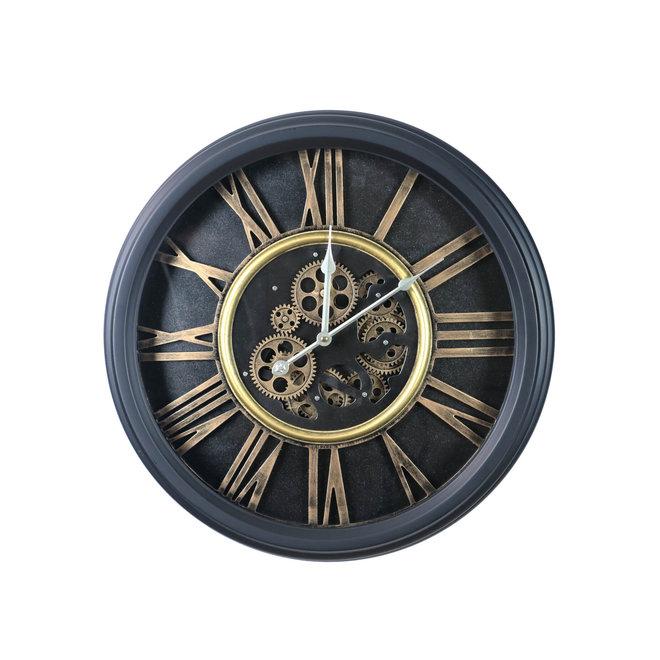 Wall clock Classic industrial black 54cm