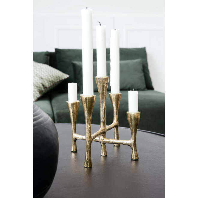 Candle holder Tristy brass