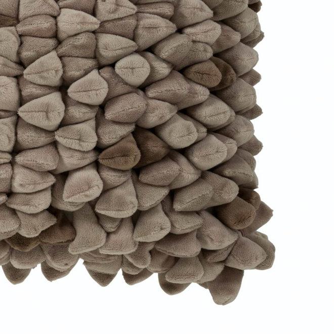 Kissen Pebble taupe 45x45cm