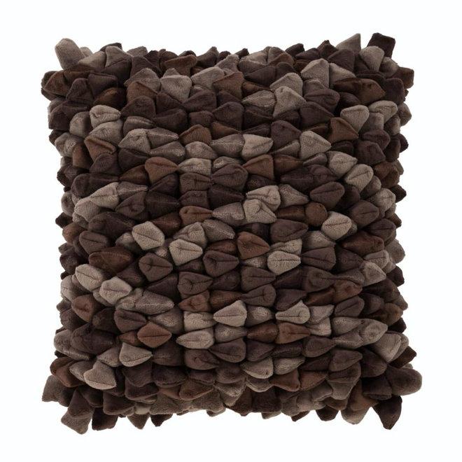 Kussen Pebble bruin 45x45cm