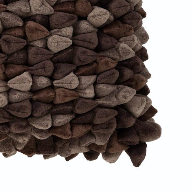 Kissen Pebble braun 45x45cm