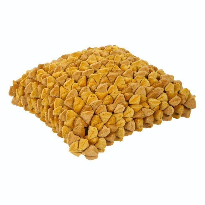 Kussen Pebble geel 45x45cm