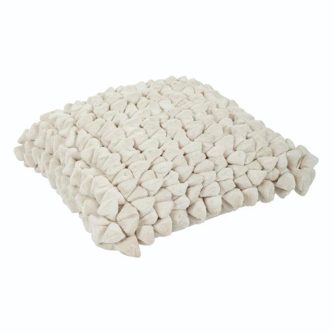 Kissen Pebble plain white 45x45cm