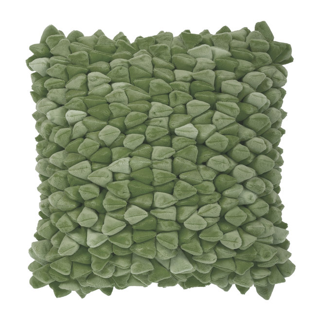 Coussin Pebble vert olive
