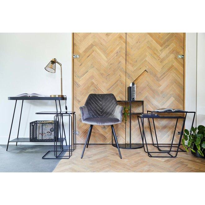 Side table Amaro black s / 2 60cm
