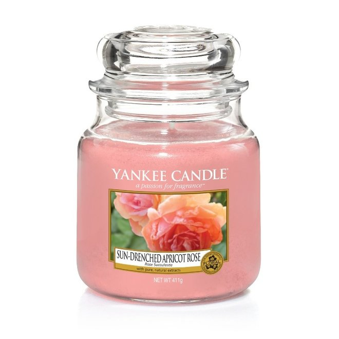 Sun-Drenched Apricot rose Medium Jar