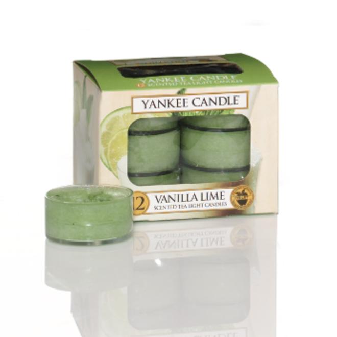 Bougies chauffe-plat Vanilla Lime 12 pcs