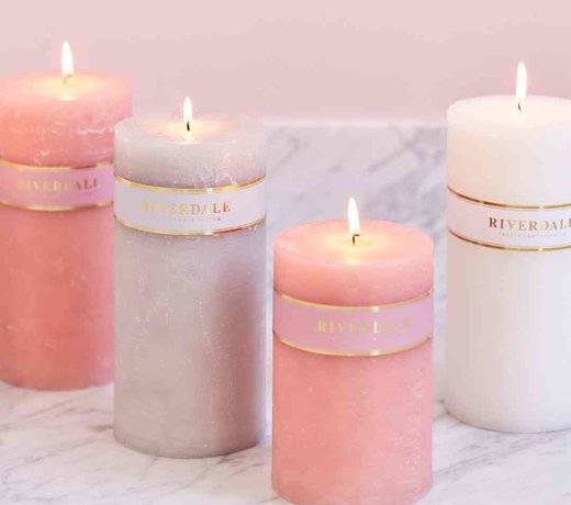 Candles without fragrance
