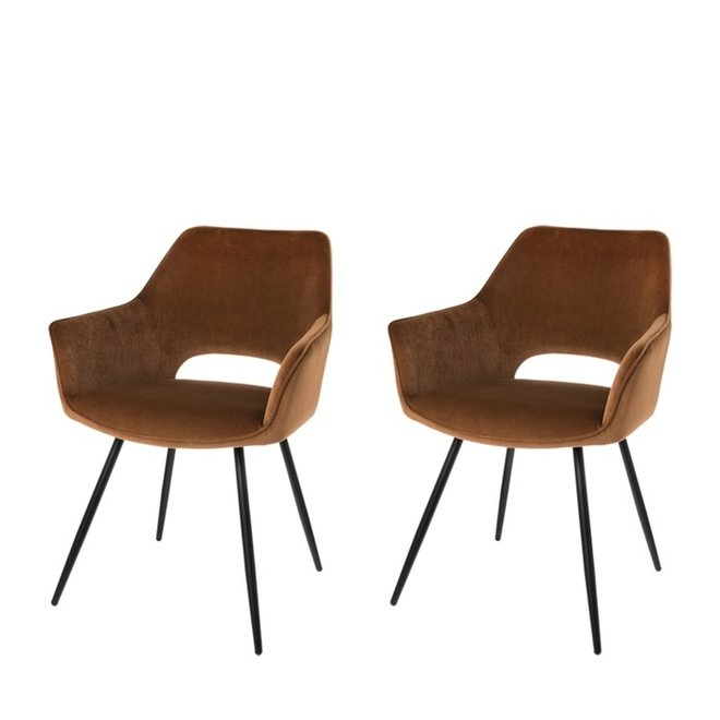 Dining room chair Eve mocha - set of 2