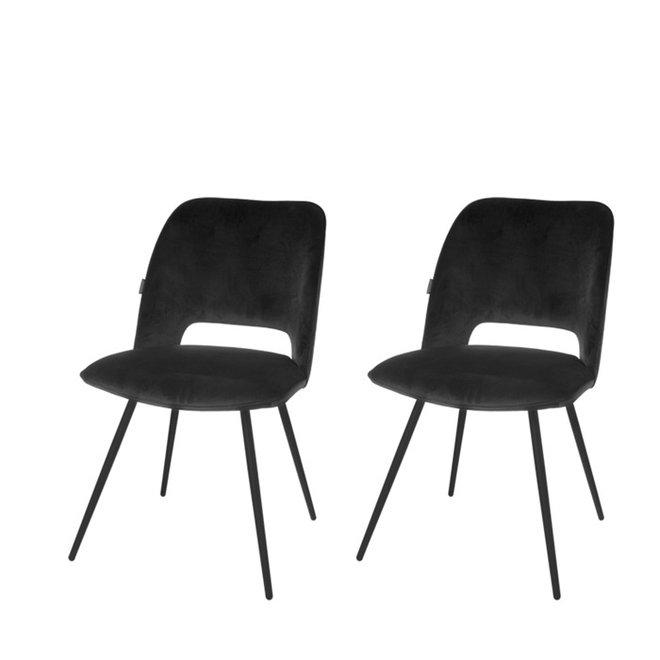 Esszimmerstuhl Elja schwarz - 2er Set