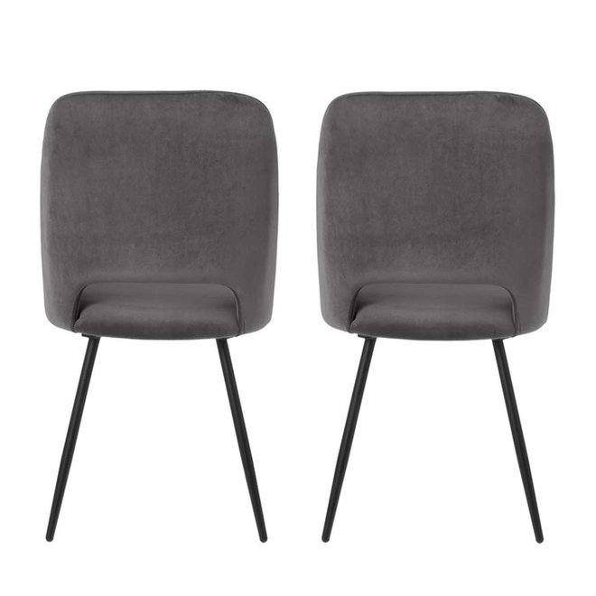Chaise de salle à manger Elja gris - set de 2