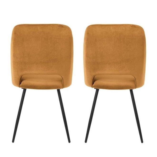 Dining room chair Elja caramel - set of 2