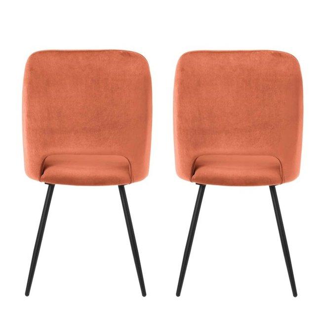 Dining room chair Elja brique - set of 2