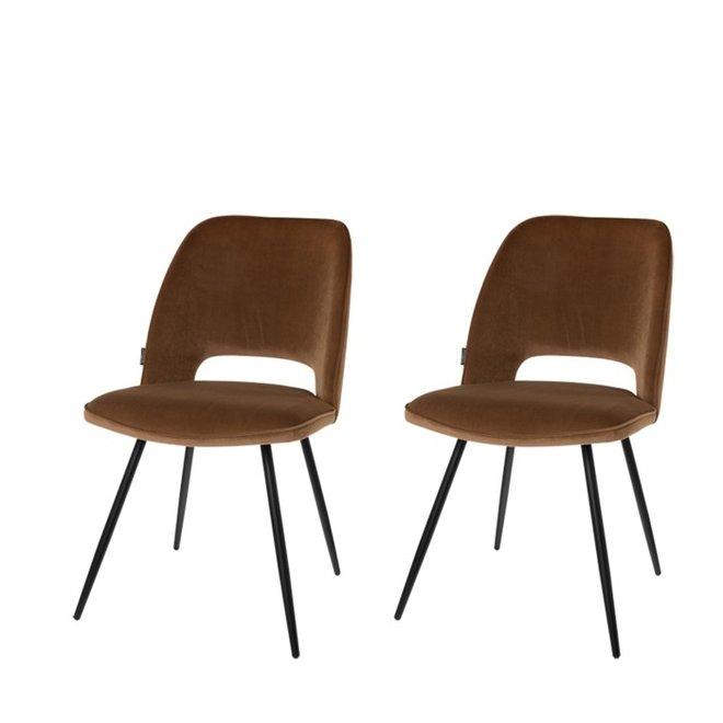 Chaise de salle à manger Elja taupe - lot de 2