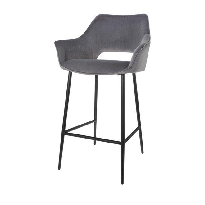 Chaise de bar Eve gris